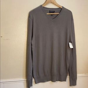 NWT Wallin & Bros Cotton/cashmere v-neck sweater